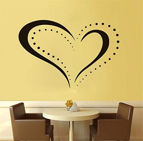 - Wadyx Art Decals Embellished Heart-Shaped Contours Detachable Decals Home Decoration Wall Stickers Simple Design Waterproof Wallpaper Sofa DIY Decoration 63Cm X 43Cm
