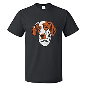 Custom Funny Graphic T Shirts for Men Ariege Pointer Head Cotton Top 2
