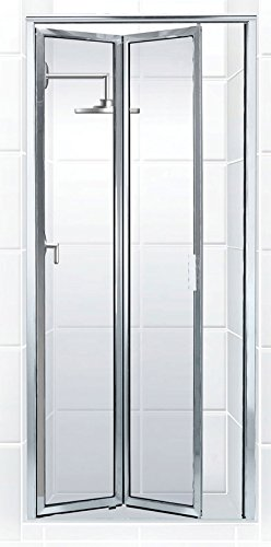 Coastal Shower Doors Paragon Series Framed Bi-Fold Double Hinge Shower Door In Clear Glass