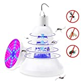 Leegoal Mosquito Killer Lamp, 2 IN 1 USB Bug Zapper Light with UV LED Plant Grow Light with Hook for Home/Kitchen/ Office/Garden/ Patio/Indoor, White