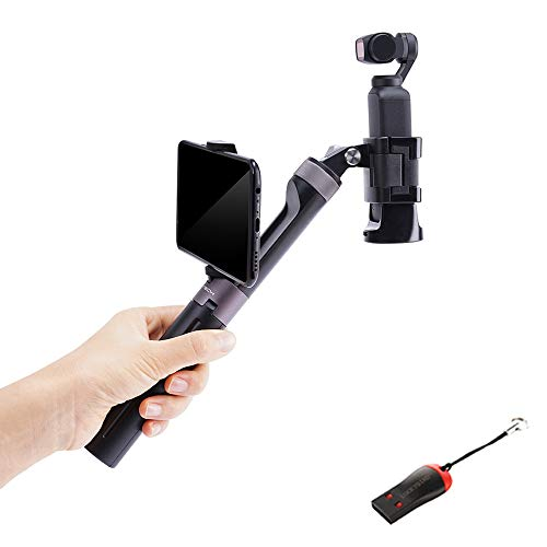- OSMO Pocket Handheld, PGYTECH Universal Hand Grip & Tripod for DJI OSMO Action/OSMO Pocket/Gopro 7/6/5 Series Action Cameras with Luckybird USB Reader