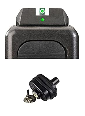 AmeriGlo GL-101 i-Dot Fits Glock 17,19,22,23,24,26,27,33,34,35,37,38,39, i-Dot Set + Ultimate Arms Gear Safety Trigger Lock by Ultimate Arms Gear