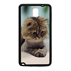 Brown Cute Cat Kitty In Snow Field Phone Case for samsung Galaxy Note3