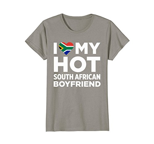 Womens I Love My Hot South African Boyfriend Cute South Africa Native Relationship T-Shirt Small - Hot Ladies South African