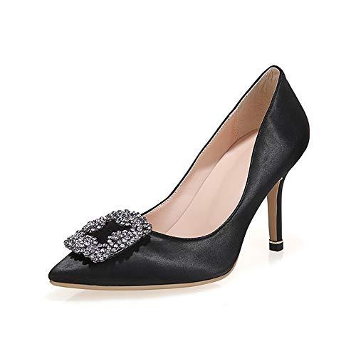 Aimint 5 EU 36 Noir Compensées Femme ERR00082 Sandales Noir ZwTZqr1