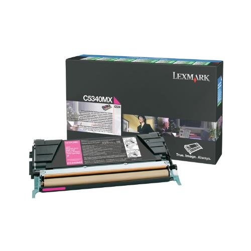 High Yield C534 Extra - Lexmark C5340MX OEM Toner - C534 Series Extra High Yield Magenta Return Program Toner 7000 Yield OEM