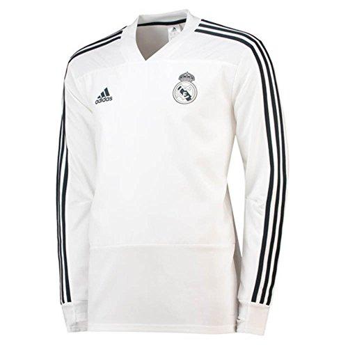 Real Madrid Training Top - adidas 2018-2019 Real Madrid Training Top (White)