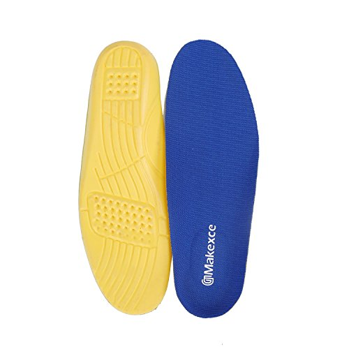 Insole Anti-Fatigue Shoe Insoles - Full Length Comfort Neutral Arch Replacement Shoe Insole/Insert for Men's&Women's (Men's 4-4.5, Women's 6-6.5, Blue) (Replacement Womens Insoles)