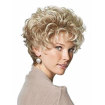 OOFAY JF® clásico duendecillo sintéticas de las pelucas cortas pelucas rubias de pelo rizado para