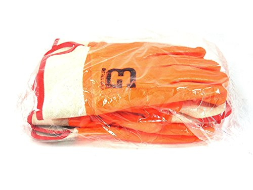 Better Grip BG105ORG Heavy Duty Premium Sandy finished PVC Coated-Supported Glove with Safety Cuff, Chemical Resistant, Large, Fluorescent Orange, Sanitation Gloves (12 Pair) by Better Grip (Image #5)