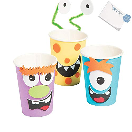 Bargain World Silly Monster Halloween Treat Cup Craft