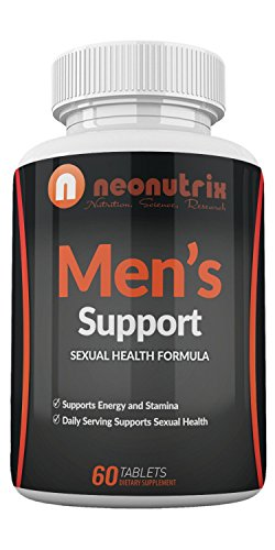 (Men's Support Libido Enhancer with Pure Tongkat Ali Powder & Maca Root for Better Sexual Performance by Boosting Energy, Stamina, Testosterone Level & Blood Flow - 60 Tabs - Made in USA by Neonutrix)