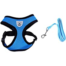 Freerun Soft Comfort Dacron Vest Dog Harness Leash Set Leads for Puppy Cat Small Dog - Blue, S