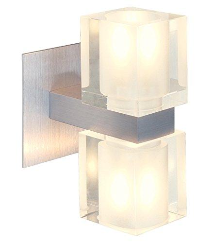 SLV Lighting 8147479U Koko 2 Wall Lamp with Satin Shade, Brushed Aluminum Finish