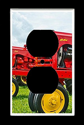 Single Duplex (2-plug) Outlet Wall Plate Cover - Row of Massey-Harris Tractor - Farm Tractors ()