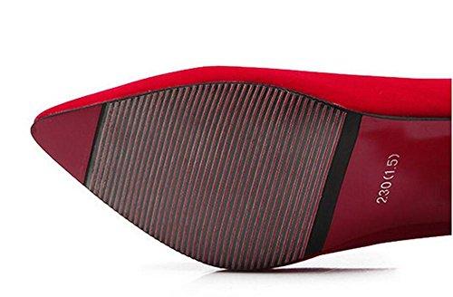 ultra tennis tacco alto 's dolci RED punta XIE scarpe da aguzza Women 39 39 delle con 4P0SWnIc