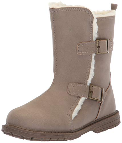 OshKosh B'Gosh Girls' Hollis Fashion Boot, Taupe, 5 M US Toddler (Cute Outfits With Black Leggings And Brown Boots)
