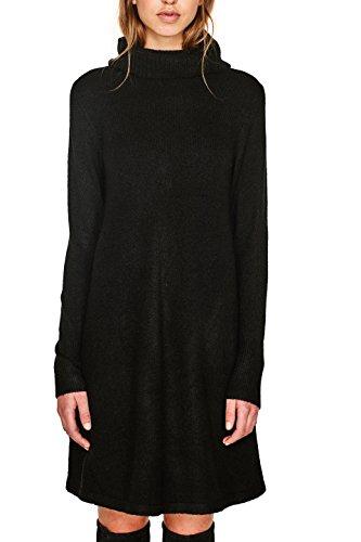 Schwarz Black Kleid Damen 001 ESPRIT Eq10HO1