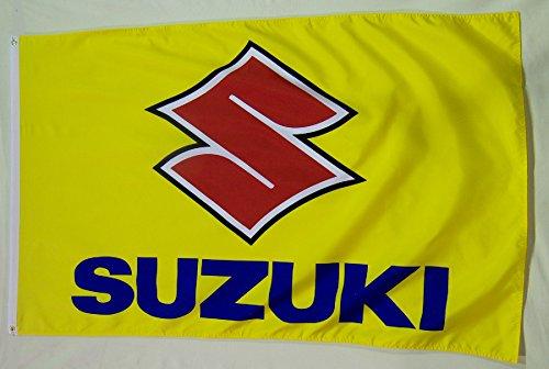 Suzuki Motorcycle Flag 3' X 5' Moto Bike Indoor Outdoor Banner