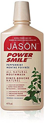 Jason Natural Cosmetics Powersmile Mouthwash, Peppermint, 16 oz
