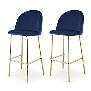 Amazon Com M61 Barstool With Gold Finish 2 Piece Set