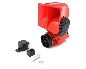 24 V Bocina de aire comprimido aire Horn Horn Claxon Rojo Compresor Camiones Automóviles Barco: Amazon.es: Coche y moto