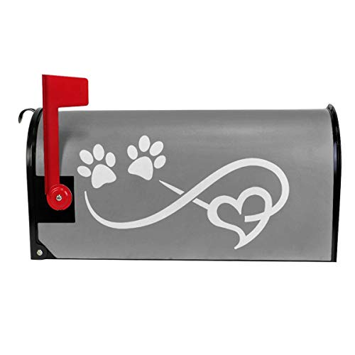 Mail Cover Paw Print Magnetic Mailbox Cover Letter Post Box Decoration Welcome Home 21x18 in