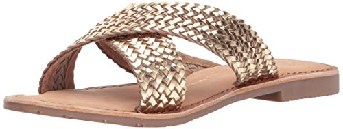 Chinese Laundry Womens Popular Slide Sandal Gold Leather