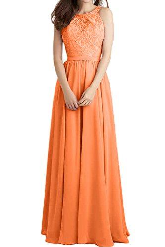 amp;Chiffon Beliebt Orange Spitze Festkleid Lang Linie Abendkleid Damen Promkleid Ivydressing Partykleid A 5pqn7StxPw