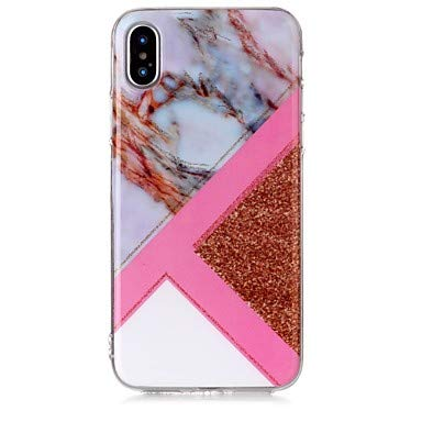 5c866a6379 Case For Apple iPhone X iPhone 8 IMD Pattern Back Cover Marble Glitter Shine  Soft TPU for iPhone X iPhone 8 Plus iPhone 8 iPhone 7 Plus ( Compatible  Models ...