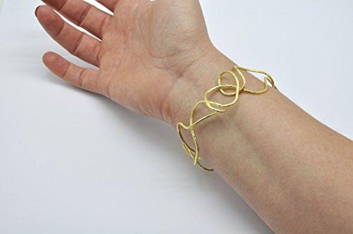 Bracelet filaire Argent 925 plaqué or - Georgia Charal