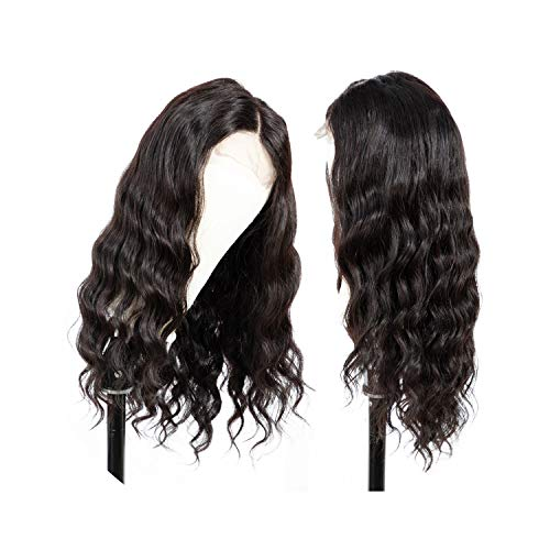 Sheep Store 4X4 Lace Front Human Hair Wigs Body Wave Brazilian Human Hair Wigs For Black Women Natural Color 150% Density Non-Remy,Natural Color,20Inches,150%