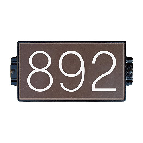 Chocolate Address Plaque 3 by Craftsman House Numbers