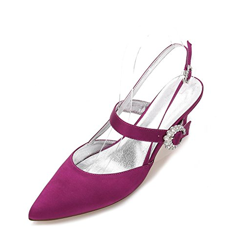 Pour Robe Chaussures Automne Femmes En yc amp; Printemps Soirée Mariage Bout L Confort Stiletto Hiver De Purple Blanc Eté Talon Soie Pointu Party wqx658Z8E