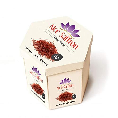 5 Grams Premium Organic Persian Saffron 0.18 OZ FRESH (5)
