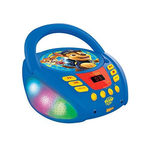 Lexibook – Paw Patrol – Bluetooth-cd-speler voor kinderen – draagbaar, lichteffecten, microfoonaansluiting, aux-ingang…