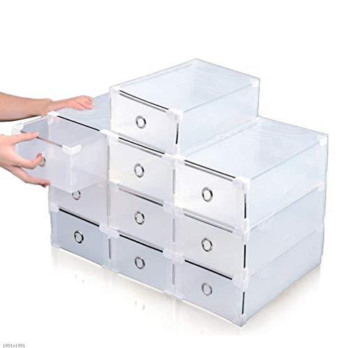 Pliable Boîte à Chaussures Organiseur Trainer tiroir pour empilable Robustes pour la SDB, Garage, Chambre, Salon 10 Pièces en (Size : 20x31x11cm)
