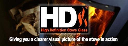 222 mm Arched High Definition Stovax Huntingdon 25 Stove Glass 314 mm