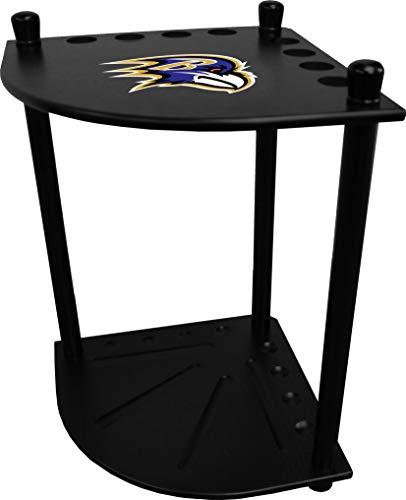 Imperial Officaly Licensed NFL Furniture: Corner Cue Rack, Baltimore Ravens