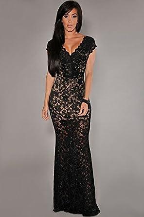 Carolina Dress Vestidos Largos Maxi Dress Negros Ropa De Moda Para Mujer De Fiesta Sexys De Noche Elegantes VE989898 at Amazon Womens Clothing store: