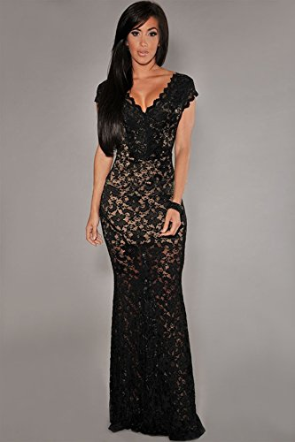 Carolina Dress Vestidos Largos Maxi Dress Negros Ropa De Moda Para Mujer De Fiesta Sexys De Noche Elegantes VE989898 at Amazon Womens Clothing store: