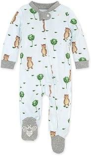 Burt's Bees - Overol de Pijama para bebé o niña, con Cierre Frontal y