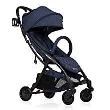 Lightweight Baby Stroller, Beberoad R2 Quick Fold Ultra Compact Travel Stroller with Extra-Large Waterproof and UV 50+ Canopy, All Wheels Suspension, Fit to Baggage Cabin, Apply to 0-36months(45LBS)