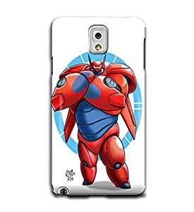 Tomhousomick Custom Design Cute Big Hero Baymax Case Cover for Samsung Galaxy Note3 N9000 Say: Hello ,I'm Baymax.What's your pain level.