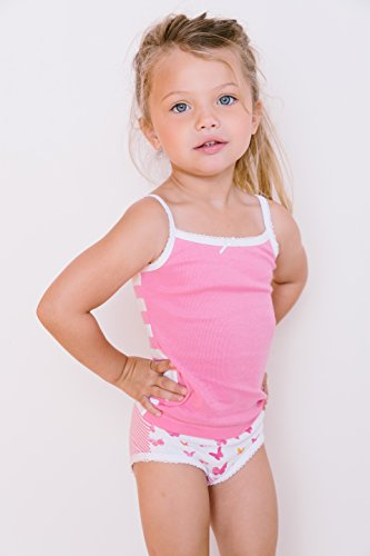 Amazon.com: Feathers Girls Butterfly Print Tagless Briefs ...