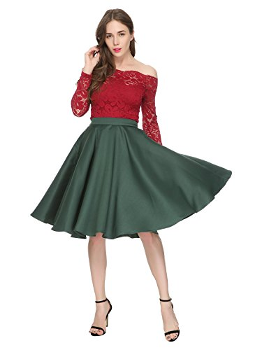 Maggie Tang 1950s Vintage Retro Polka Dots Swing Rockabilly Casual Skirts Gr - Dots Polka Retro