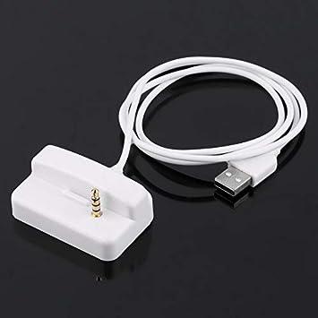 Cargador USB de plástico Blanco y Base de estación de ...