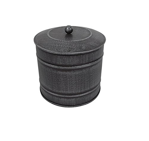 Craft Outlet Tin Container with Lid, 5 x 5 x 5-Inch, Antique Silver ()