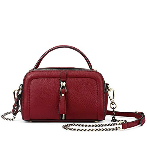 Wine Main Cuir À Purse Honneury Véritable Red En Lady Sac Femme Crossbody pEw5xXqv