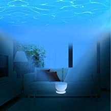 LIWUYOU Ocean Night Light Projector with Music Player Blue Sea Daren Waves Projection Lamp Mini Portable Speaker and Aurora Master LED in Living Room Bedroom Christmas Gifts for Kids Children Nursery